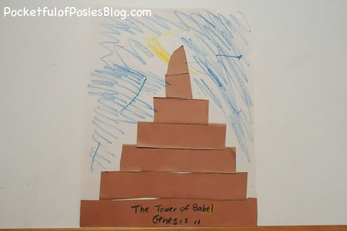 Crafts Tower of Babel Bible Crafts and Activities