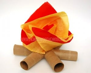 Mini Campfire Paper Craft