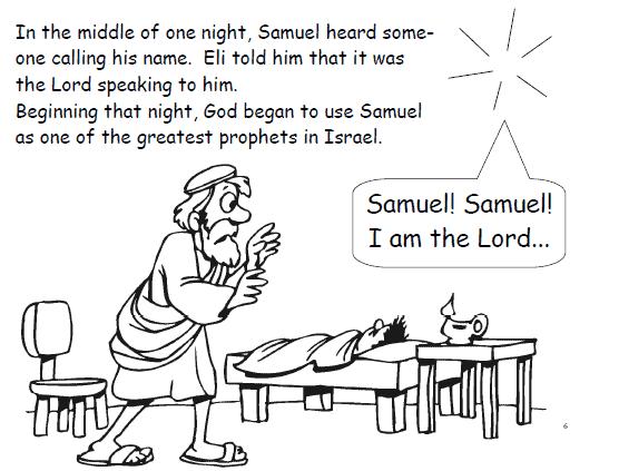 Sunday School Crafts For Samuel Listens To God Bible