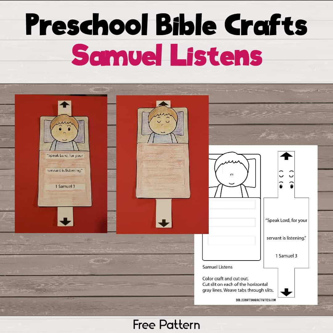 Pattern to make samuel listens paper craft