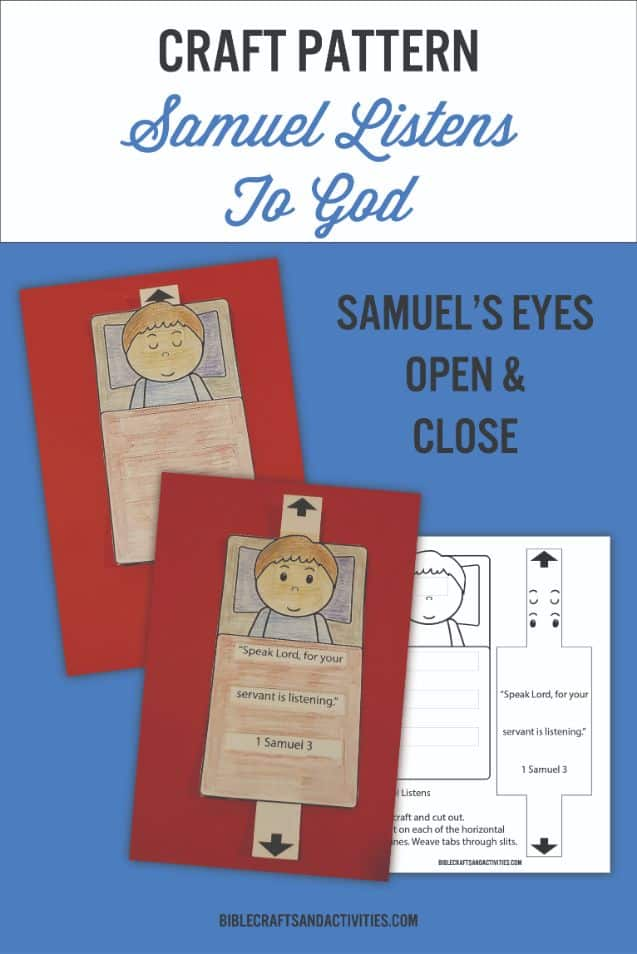 Samuel Listens to God paper craft example and template