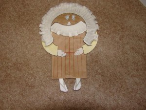 Abraham Paper Bag Puppet
