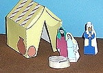 Paper Tent Craft for Abraham and Sarah