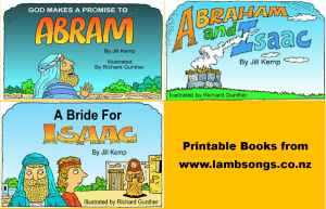 Books to Print or Color for Abraham and Isaac