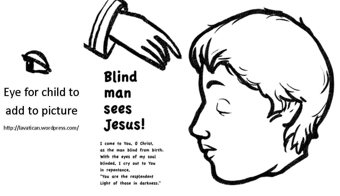 Bible Key Point Coloring Page | Jesus Heals A Blind Man | Free ... | 647x1125