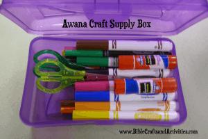 Awana Craft Supply Box