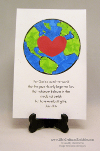 John 3:16 Earth Printable