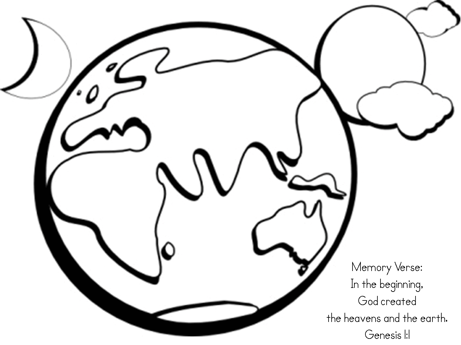 Free Coloring Pages For Creation Day 2, Download Free Clip Art ...   1124x1500