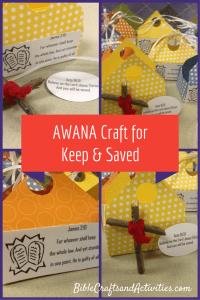 AWANA Craft for Keep & Saved