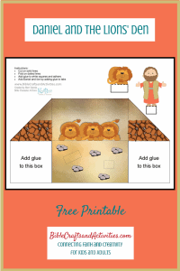Daniel and the Lions' Den Free Printable Diorama