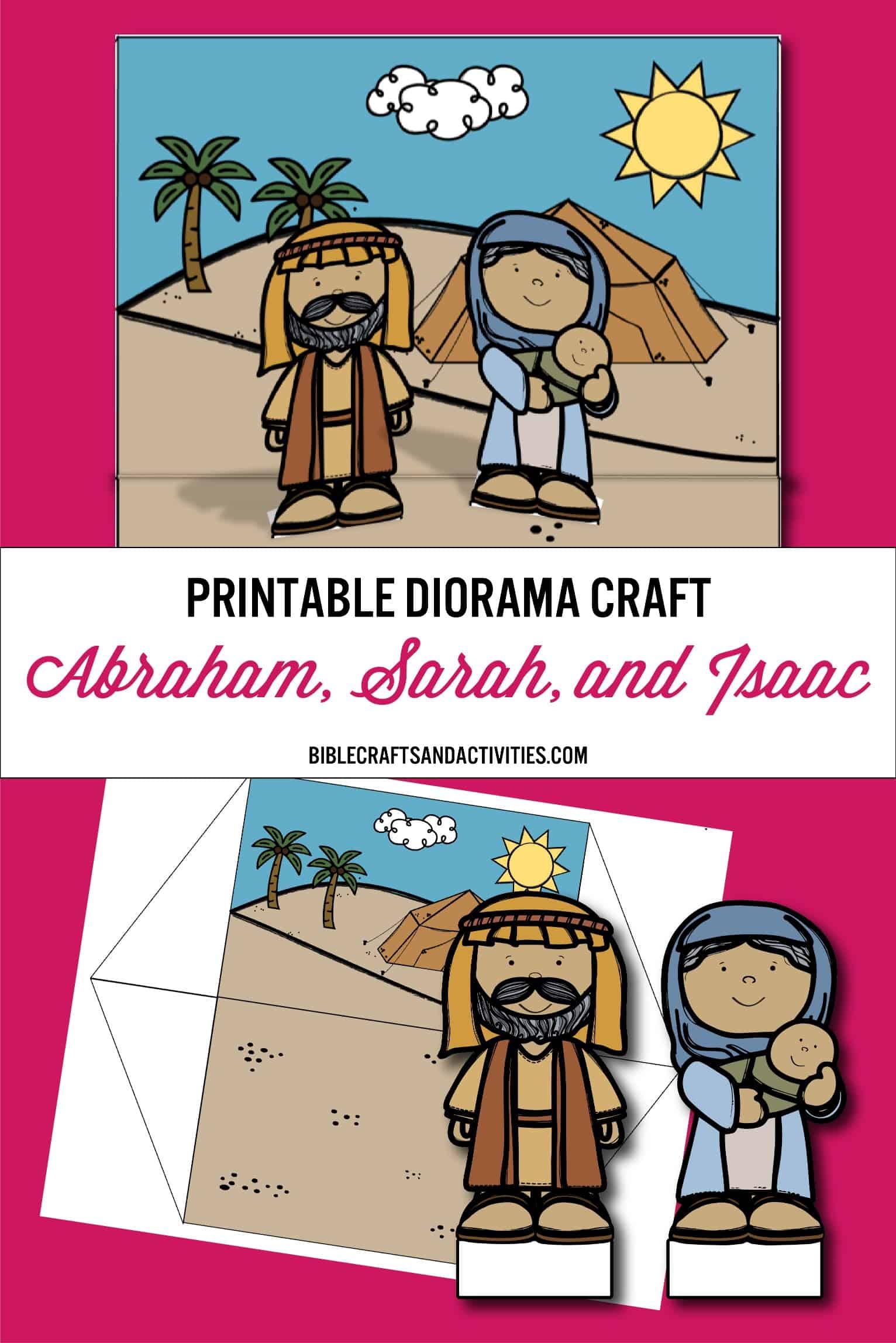 photo relating to Printable Diorama named pinterest-printable-diorama-craft-abraham-sarah-isaac