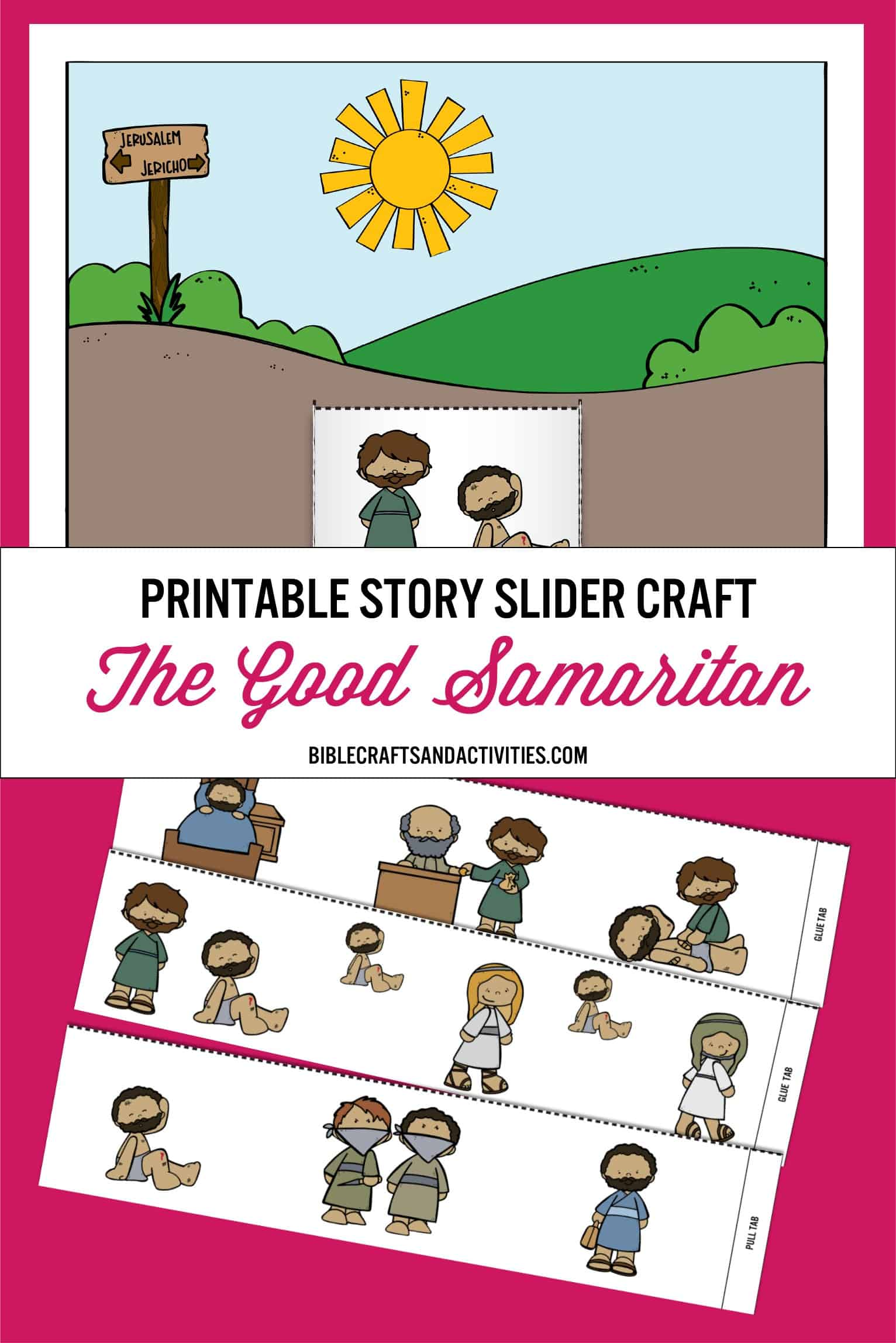 photo relating to Pinterest Printables referred to as pinterest-printable-tale-slider-craft - Bible Crafts and
