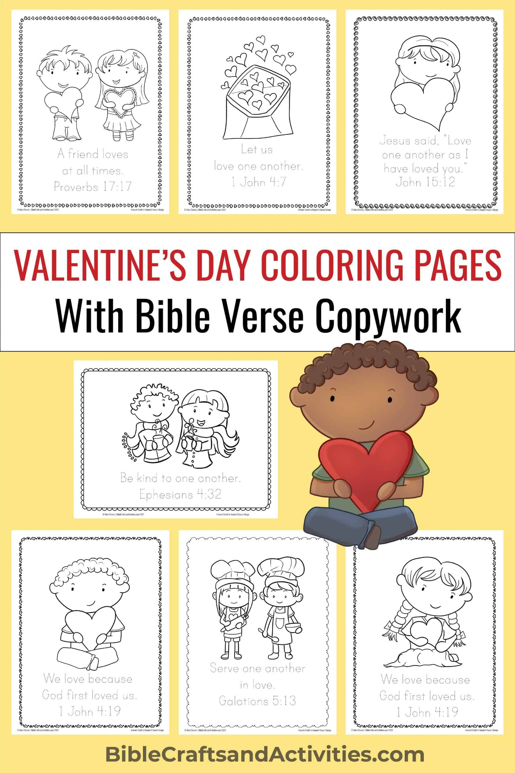 samples of Valentine's Day coloring pages