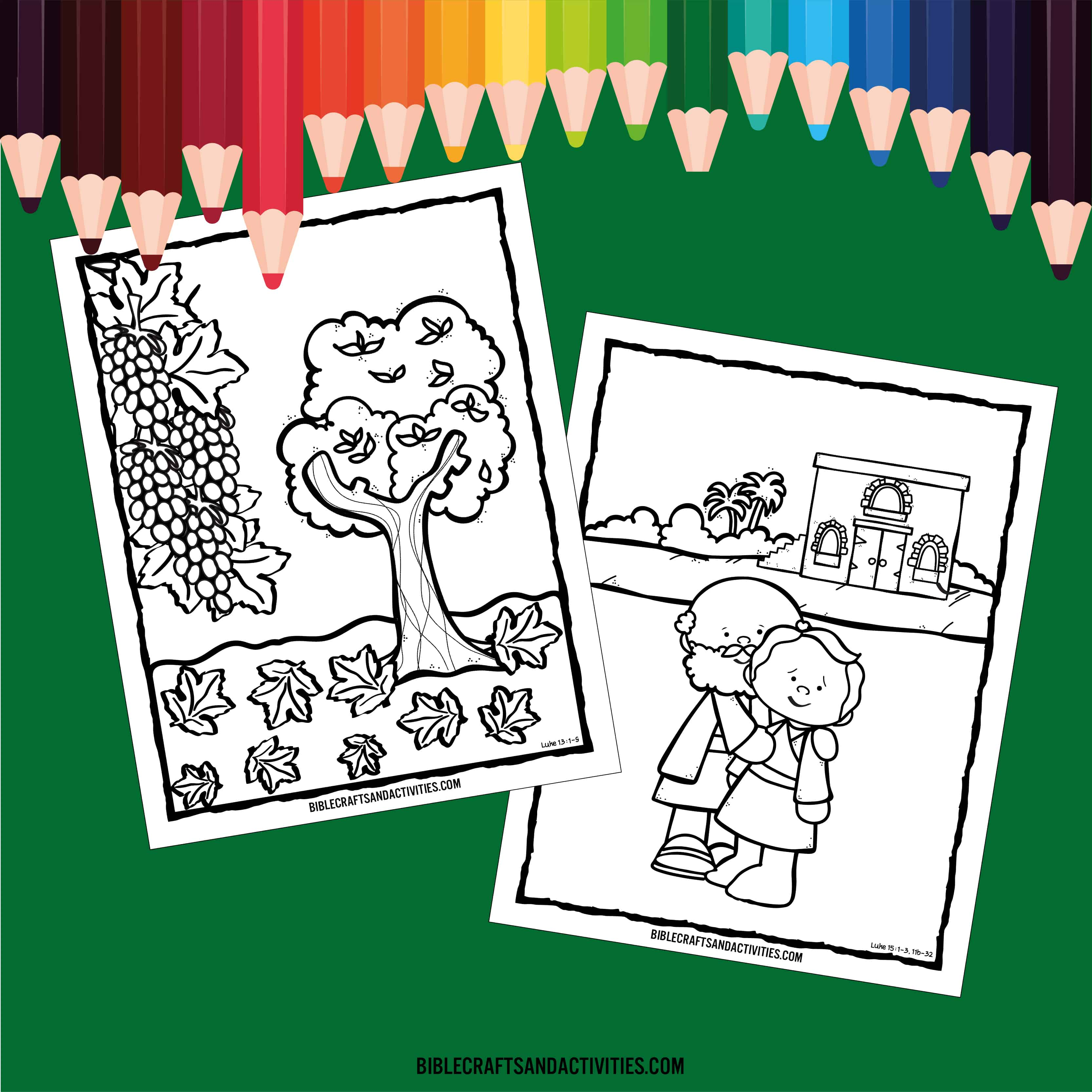 Free Lent Coloring Pages - Bible Crafts and Activities