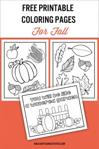 fall coloring pages for preschool