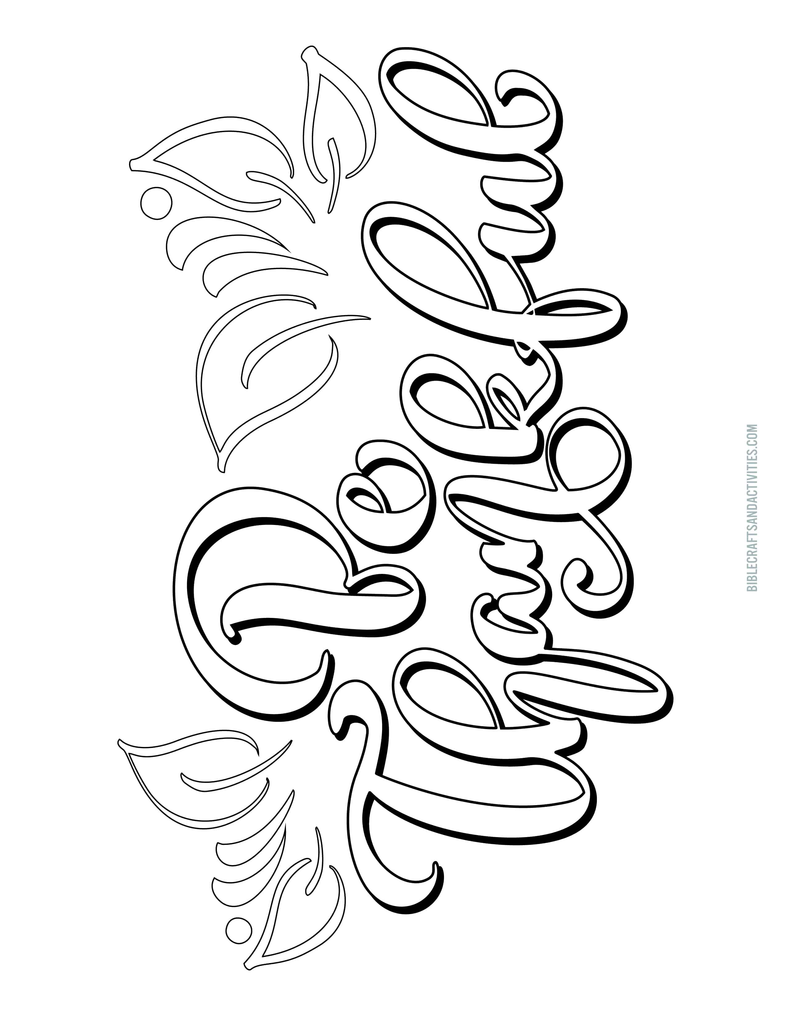 It is a picture of Impertinent Calligraphy Coloring Pages