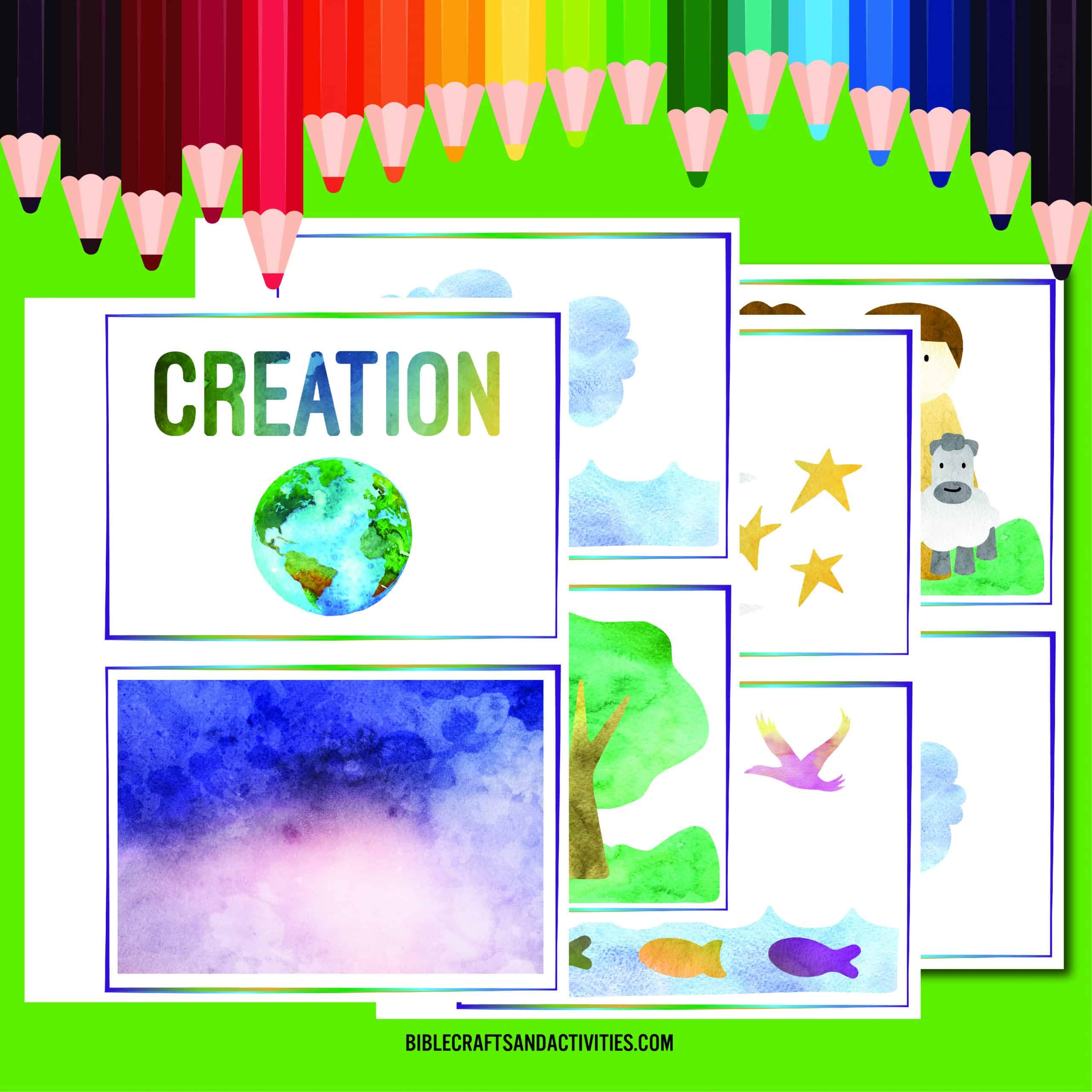 days of creation printable booklet