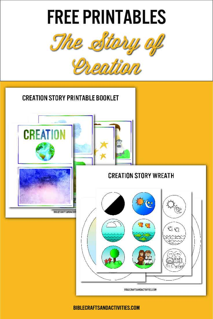 crafts for the creation story booklet and wreath