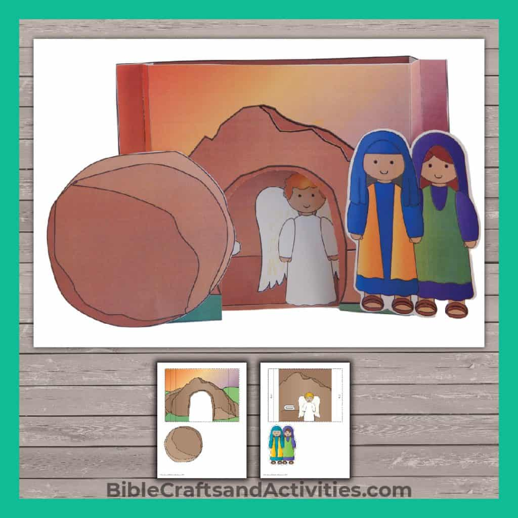 sample of empty tomb paper diorama craft
