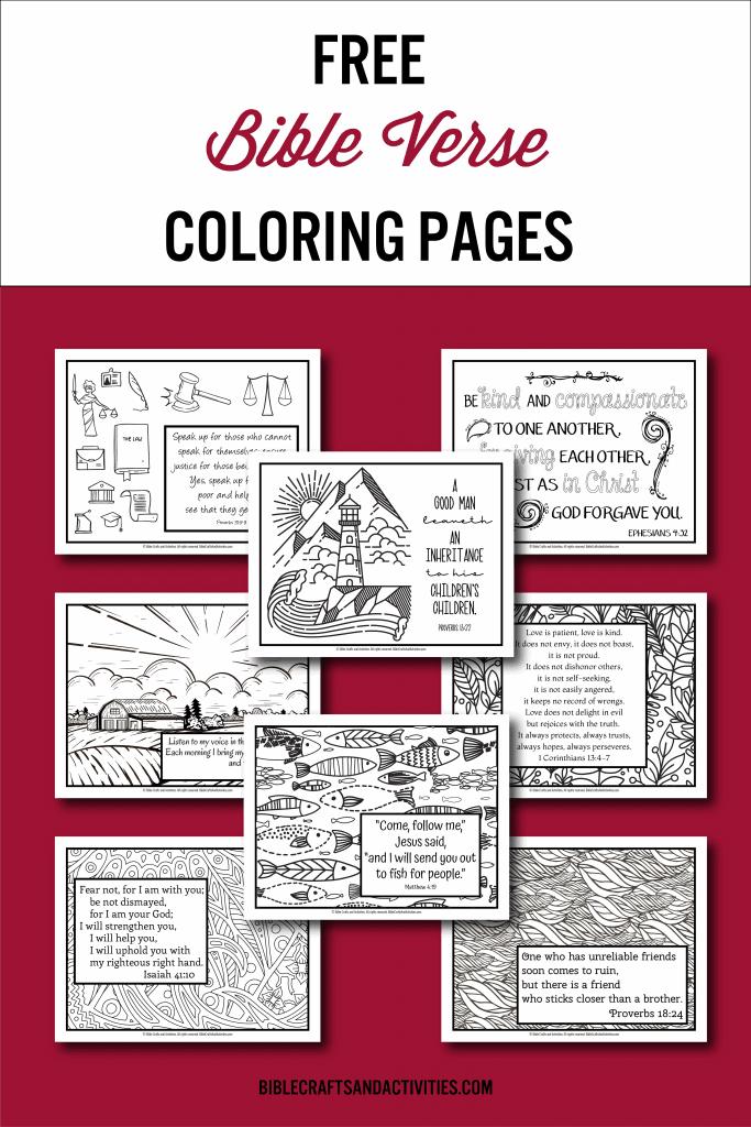 Bible Verse Coloring Pages Bundle