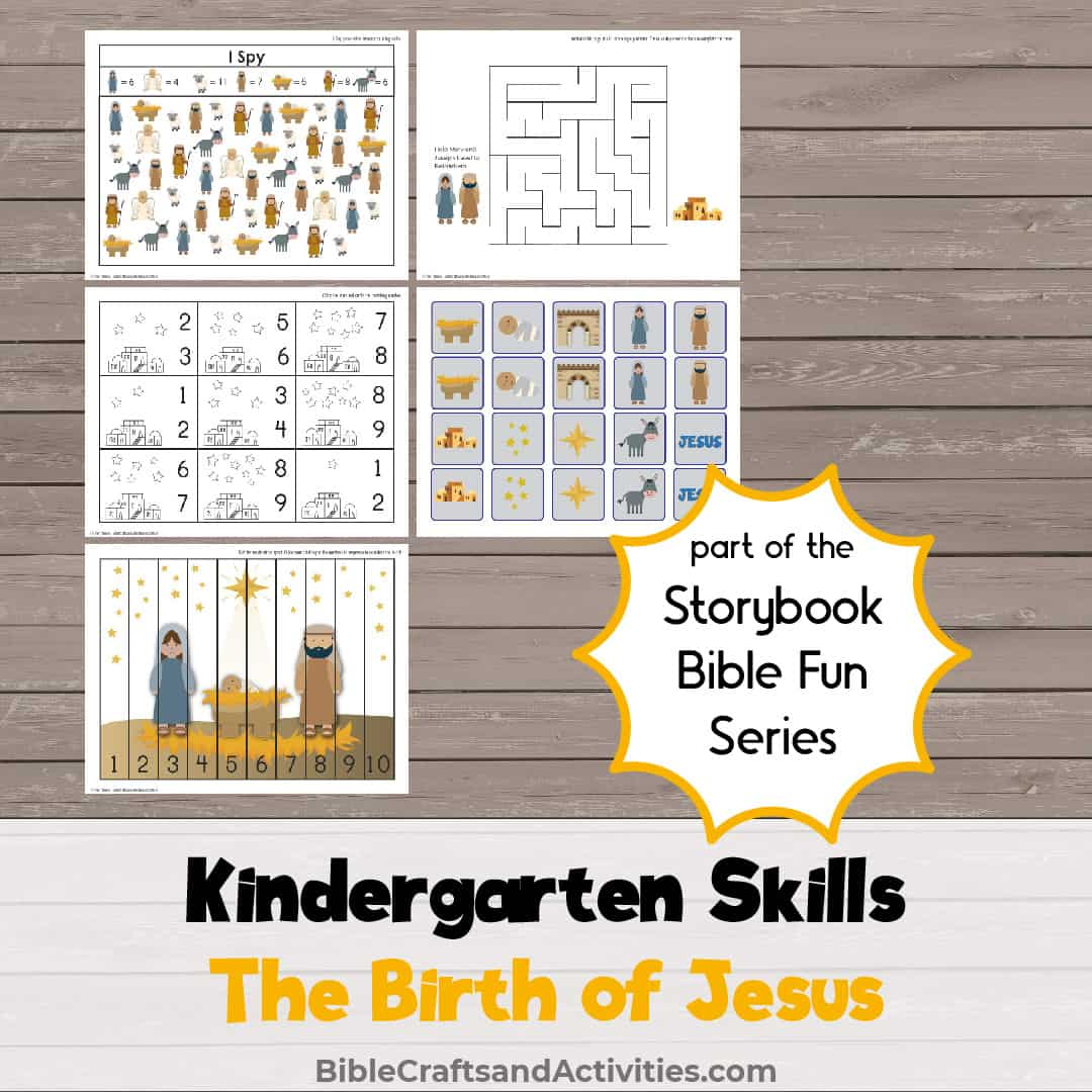 examples of printable activities for the birth of Jesus