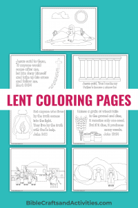 7 coloring pages for the Lent Gospel Readings